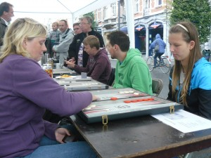 Street Backgammon at Leuven Autovrij 2012
