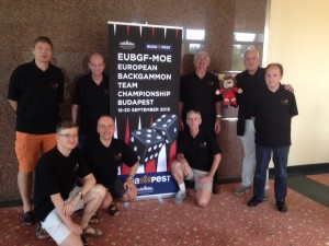 The Belgium Backgammon Team shortly before start of the Championship.