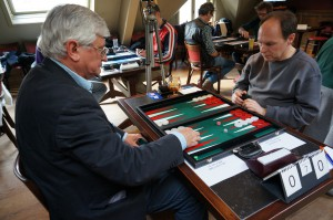 Live action at the Brugge Backgammon Day 2015, organized by the Brugge Backgammon Club
