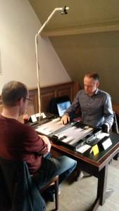 Johan (l) en Geert (r) in the final (foto : Robin)