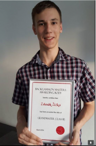 Zdenek with BMAM award letter