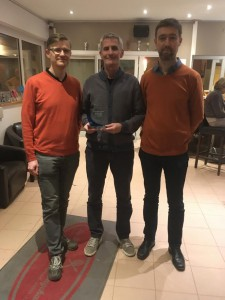 Zsolt (l), Michel (with trophy) and Johan (r)